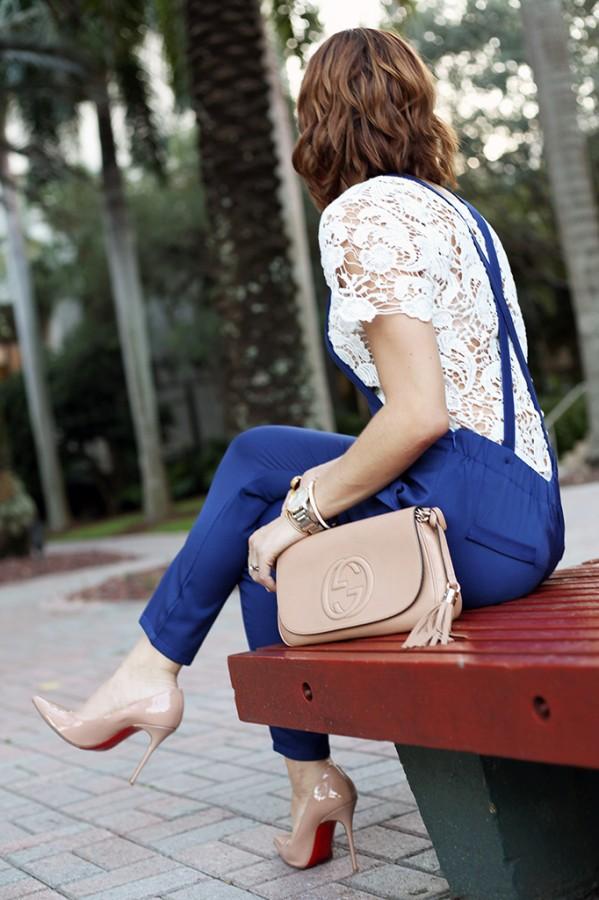 e1020764b95e Blame it on Mei Fall 2015 Miami Fashion Blogger SheIn Jumpsuit Lace Top  Montblanc TimeWalker Watch