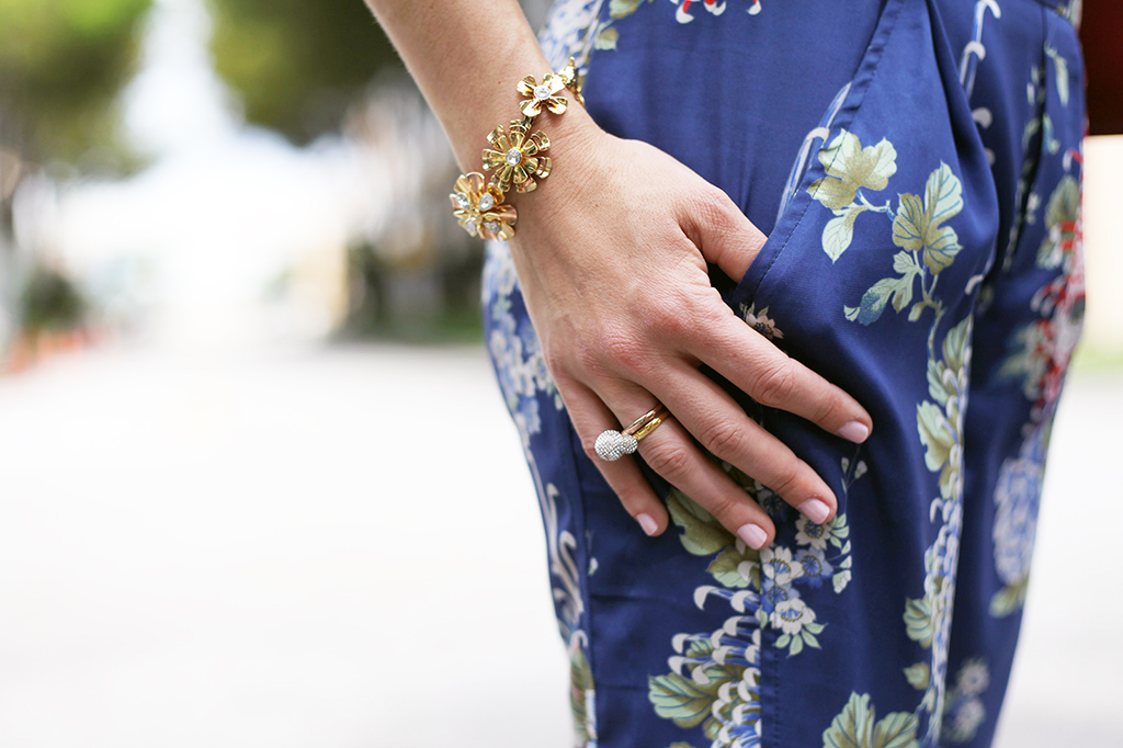 Blame it on Mei Miami Fashion Blogger Fall 2015 Bvlgari sunglasses Zara Floral Pants Henri Bendel Necklace Ring Tiffany Bracelet Valentino Rockstud Handbag Dolce Vita Sandals.jpg