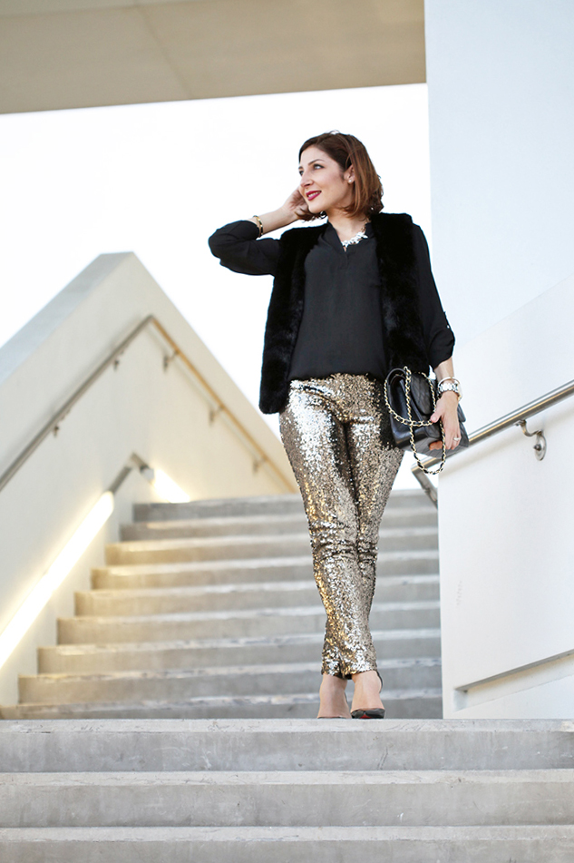 12-18-15-Blame-it-on-Mei-Miami-Fashion-Blogger-Holiday-Look-2015-Sequin-Legging-Pant-Faux-Fur-Vest-Montblanc-Timewalker-Watch-Louboutin-Iriza-Patent-Pumps-Chanel-Classic-Double-Flap-10a-1024