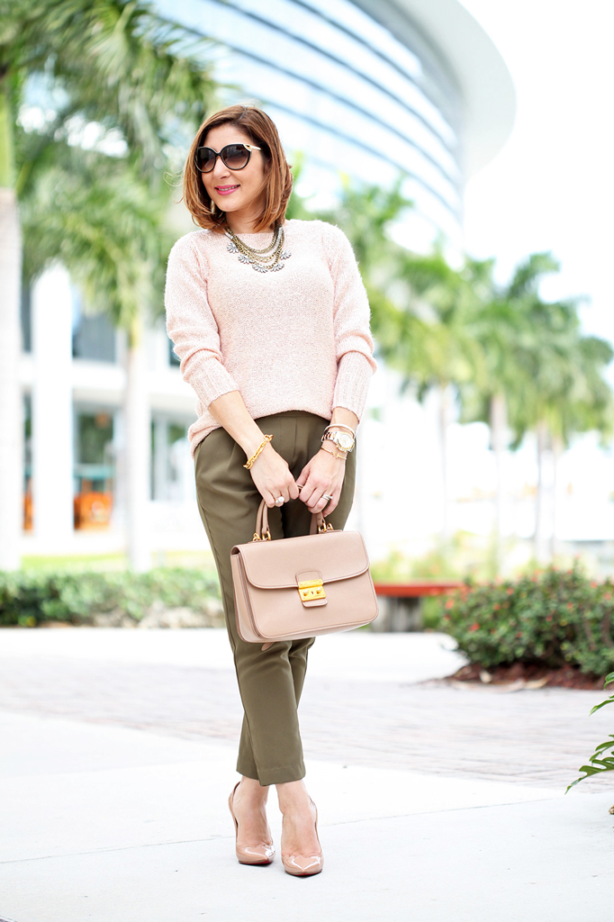 Pantone Color Of The Year Cozy Sweater Olive Green Pants Blame It On Mei Miami Fashion