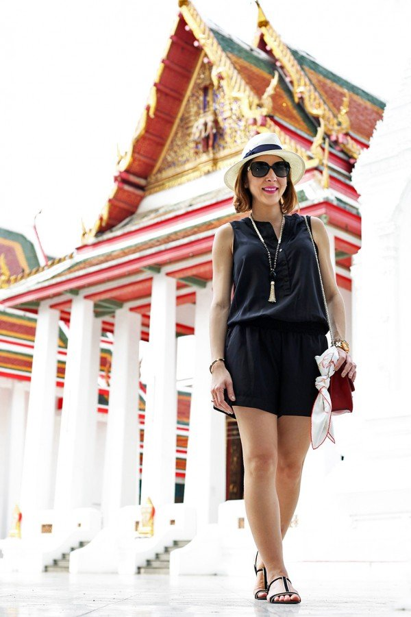 1-15-16-Blame-it-on-Mei-Miami-Fashion-Travel-Blogger-Thailand-Bangkok-Buddhist-Temple-Thai-Building-Valentino-Rockstud-Handbag-Panama-Hat-Travel-Outfit-Look-Black-Romper