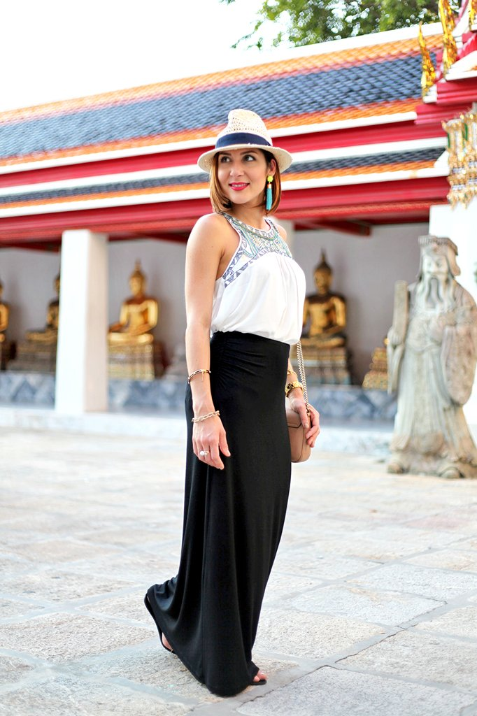 Bangkok Thailand Maxi Skirt Embroidered Top Blame It