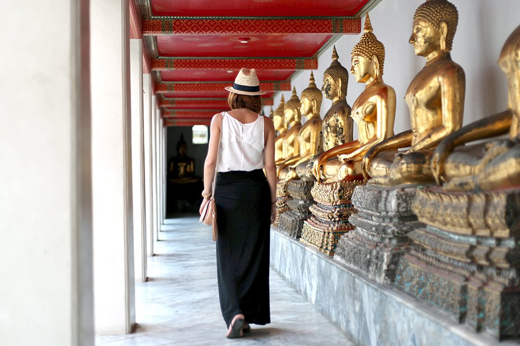 1-20-16-Blame-it-on-Mei-Miami-Fashion-Travel-Blogger-Thailand-Bangkok-Buddhist-Building-Temple-Maxi-Black-Skirt-Gucci-Soho-Crossbody-Panama-Hat-Travel-Outfit-Look-Embroidered-Shirt