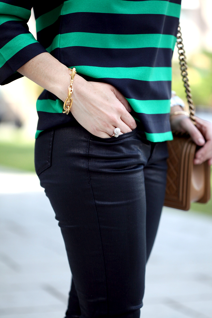 1-22-16-Blame-it-on-Mei-Fashion-Blogger-2016-Wide-Stripe-Blouse-Coated-Black-Jeans-Chanel-Boy-Valentino-Rockstud-Leopard-Sandals-Mixing-Pattern-Soft-Waves