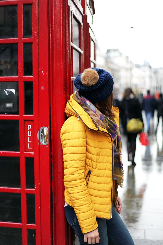 2-15-16-Blame-it-on-Mei-Fashion-Travel-Blogger-London-UK-Picadilly-Circus-Winter-Mustard-Yellow-Down-Coat-Checkerd-Blanket-Scarf-Blue-Pom-Pom-Beanie-Gucci-Soho-Crossbody
