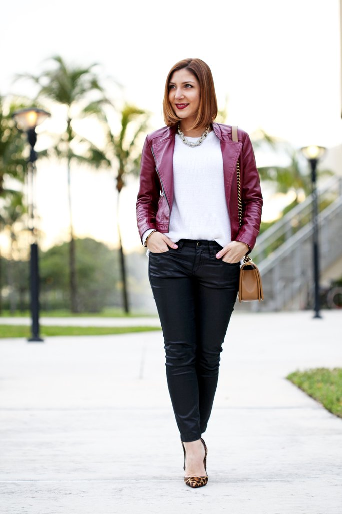 2-17-16-Blame-it-on-Mei-Fashion-Blogger-2016-Winter-Burgandy-Oxblood-Moto-Jacket-Leopard--Louboutin-Pumps-Chanel-Boy-Small-Coated-Jeans