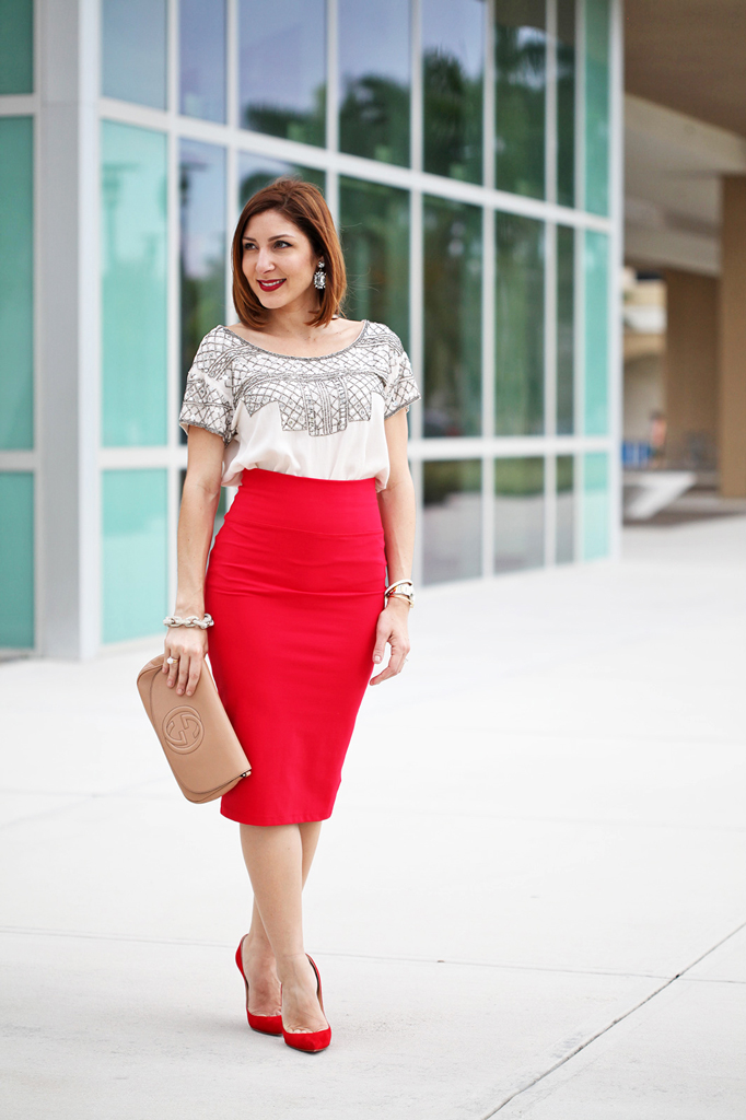 2-7-16-Blame-it-on-Mei-Fashion-Blogger-2016-Valentines-Day-Inspiration-Look-Knit-Midi-Red-Skirt-Embellished-Top-Gucci-Soho-Crossbody-Baublebar-Ascher-Drop-Earrings-Louboutin-Suede-Pumps