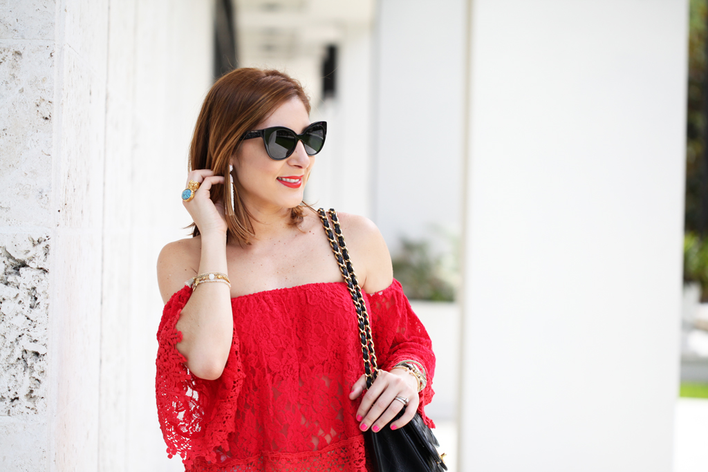 Blame-it-on-Mei-Miami-Fashion-Blogger-2016-Spring-Look-Summer-Outfit-Red-Crochet-Lace-Off-The-Shoulder-Valentino-Rockstud-Sandals-Chanel-Classic-White-Jeans-Tassel-EarringsBlame-it-on-Mei-Miami-Fashion-Blogger-2016-Spring-Look-Summer-Outfit-Red-Crochet-Lace-Off-The-Shoulder-Valentino-Rockstud-Sandals-Chanel-Classic-White-Jeans-Tassel-Earrings