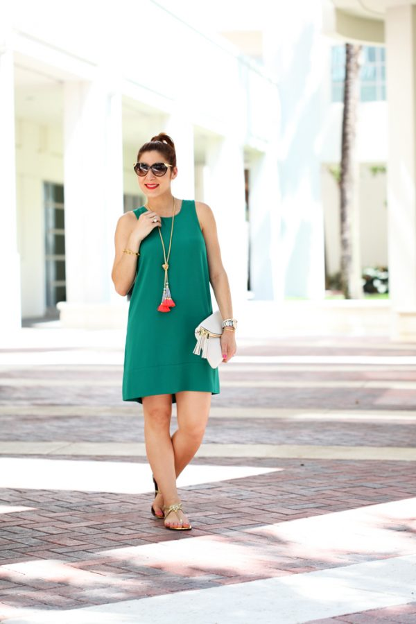Blame-it-on-Mei-Miami-Fashion-Blogger-2016-Spring-Look-Summer-Outfit-Shift-Dress-Henri-Bendel-Debutante-Baublebar-Majorca-Necklace-Gold-Sandals-Cat-Eye-Sunglasses