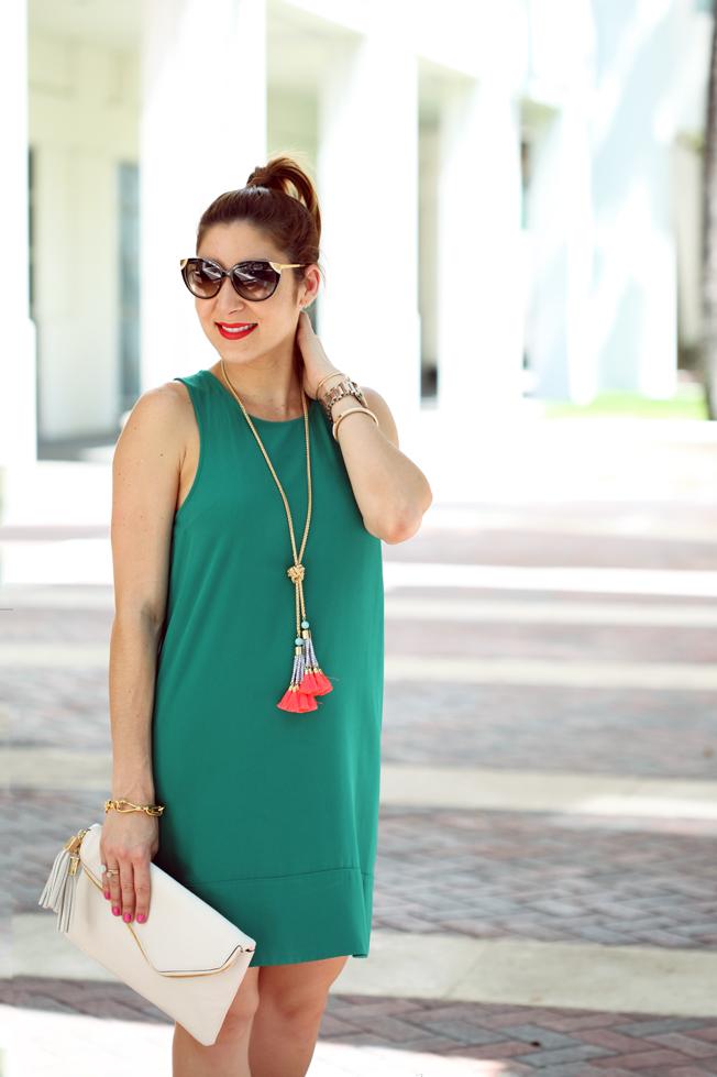 Blame-it-on-Mei-Miami-Fashion-Blogger-2016-Spring-Look-Summer-Outfit-Shift-Dress-Henri-Bendel-Debutante-Baublebar-Majorca-Necklace-Gold-Sandals-Cat-Eye-Sunglasses