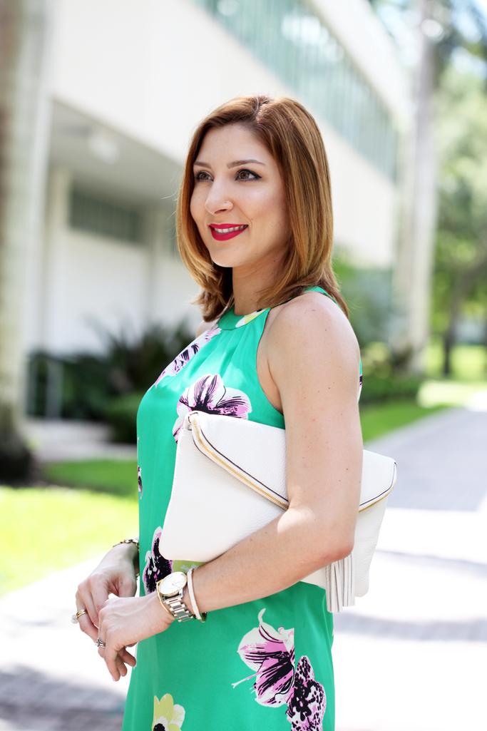 Blame-it-on-Mei-Miami-Fashion-Blogger-2016-Summer-Outfit-Floral-Dress-Yellow-Carrson-Block-Heels-Henri-Bendel-Debutante-Tassel-Clutch-Baublebar-Tassel-Earrings