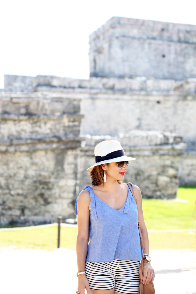 Blame-it-on-Mei-Miami-Fashion-Blogger-2016-Summer-Look-Off-The-Shoulder-Swimsuit-Black-Swimsuit-Animal-Print-Cover-Up-Floppy-Beach-Hat-Secrets-Maroma-Riviera-Maya