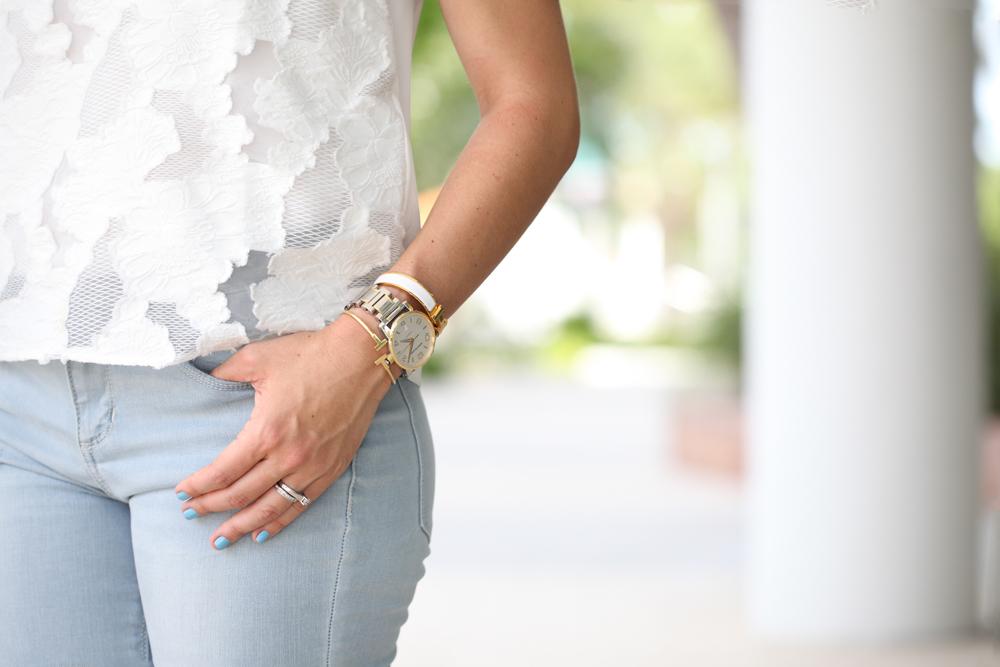 Blame-it-on-Mei-Miami-Fashion-Blogger-2016-Nordstrom-Sale-#Nsale-Lace-Top-Light-Wash-Jeans-Summer-Look-Stella-&-Dot-Luna-Double-Horn-Pendant-Celine-Luggage-Red-Louboutin-Gold-Scarf-As-Bracelet