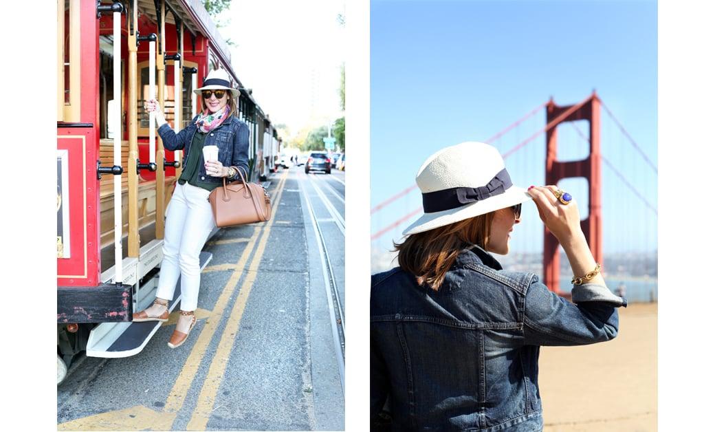 Blame-it-on-Mei-Miami-Fashion-Travel-Blogger-San-Francisco-Golden-Gate-Bridge-from-Battery-Spenser-Summer-2016-Denim-Jacket-Cable-Car-White-Trouser-Panama-Hat-Valentino-Espadrille