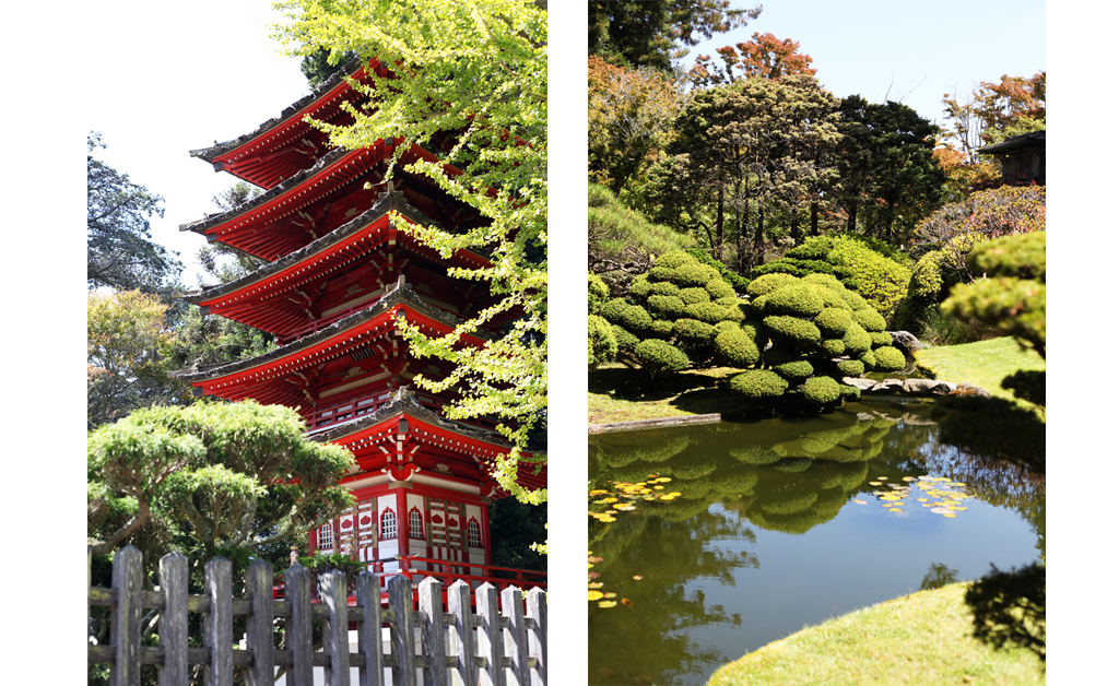 Blame-it-on-Mei-Miami-Fashion-Travel-Blogger-San-Francisco-Weekend-Trip-2016-Summer-Look-Japanese-Garden-Golden-Gate-Park-Red-Pagoda-Structure-Building-Pond