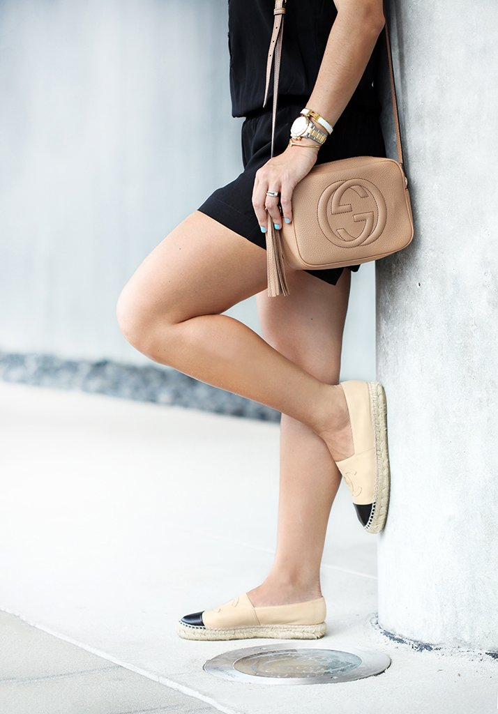 blame-it-on-mei-miami-fashion-blogger-2016-u-by-kotex-power-to-the-period-project-black-romper-neck-scarf-gucci-soho-chanel-espadrilles-quay-avalon-casual-look-comfortable-outfit