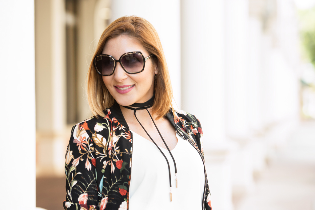 Blame-it-on-Mei-Miami-Fashion-Blogger-2016-Floral-Bomber-Jacket-Fancy-Joggers-Metallic-Valentino-City-Sandals-Ditto-Sunglasses-Chanel-Boy-Transition-to-Fall-Look-Comfy-Casual-Outfit-Caseapp-Iphone-Case