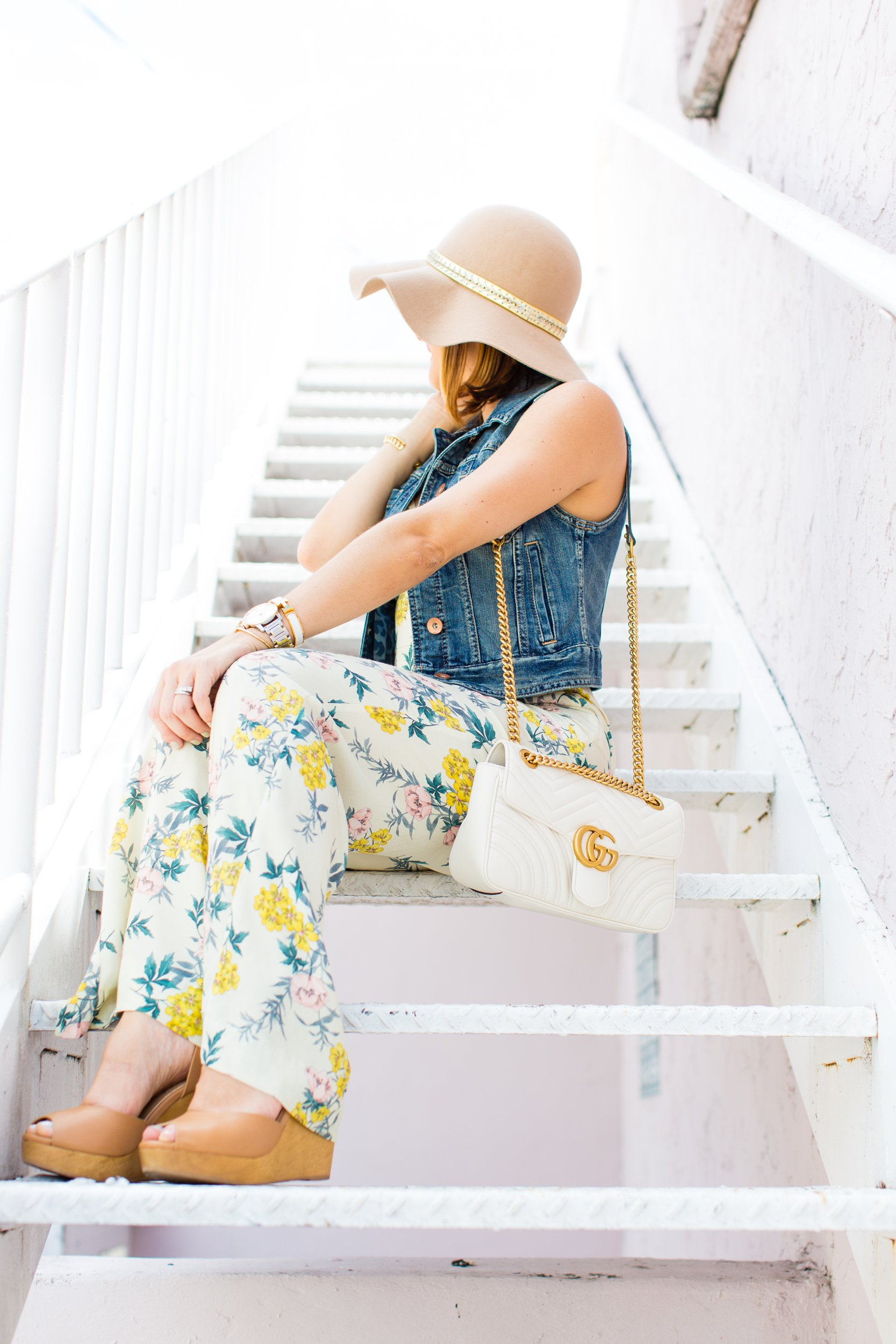 f8148ac5e3a Flower Power  Floral Jumpsuit + Floppy Hat - Blame it on Mei