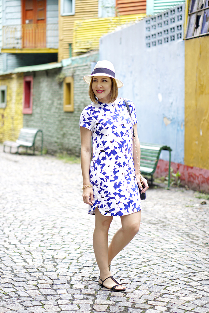 Reversed Florals for Buenos Aires Shift Dress + Tassel Earrings - Blame it on Mei | Miami ...