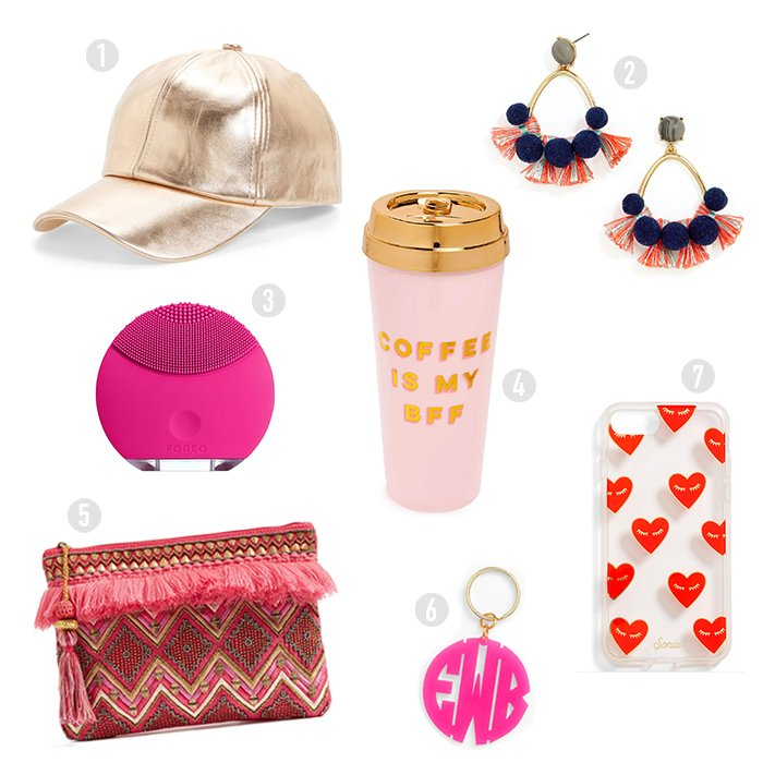 Blame-it-on-Mei-Miami-Fashion-Blogger-2017-Valentines-Gift-Guide-For-Her-Coffee-Mug-Gold-Cap-Monogram-Key-Chain-Kisses-iphone-Case-Pom-Pom-Earrings