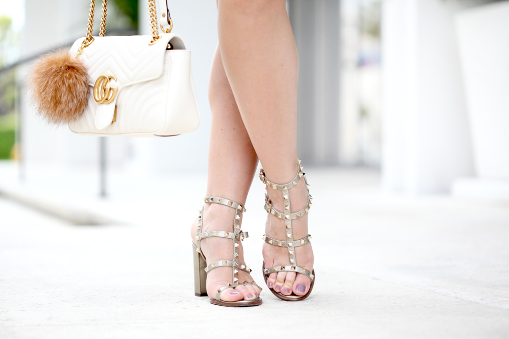 Blame-it-on-Mei-Miami-Fashion-Blogger-2017-Date-Night-Look-Dress-with-Choker-Metallic-Stud-City--Sandals-Valentino-Gucci-Marmot-Handbag-with-Pom-Pom-Fur-Tassel-Pinata-Earrings