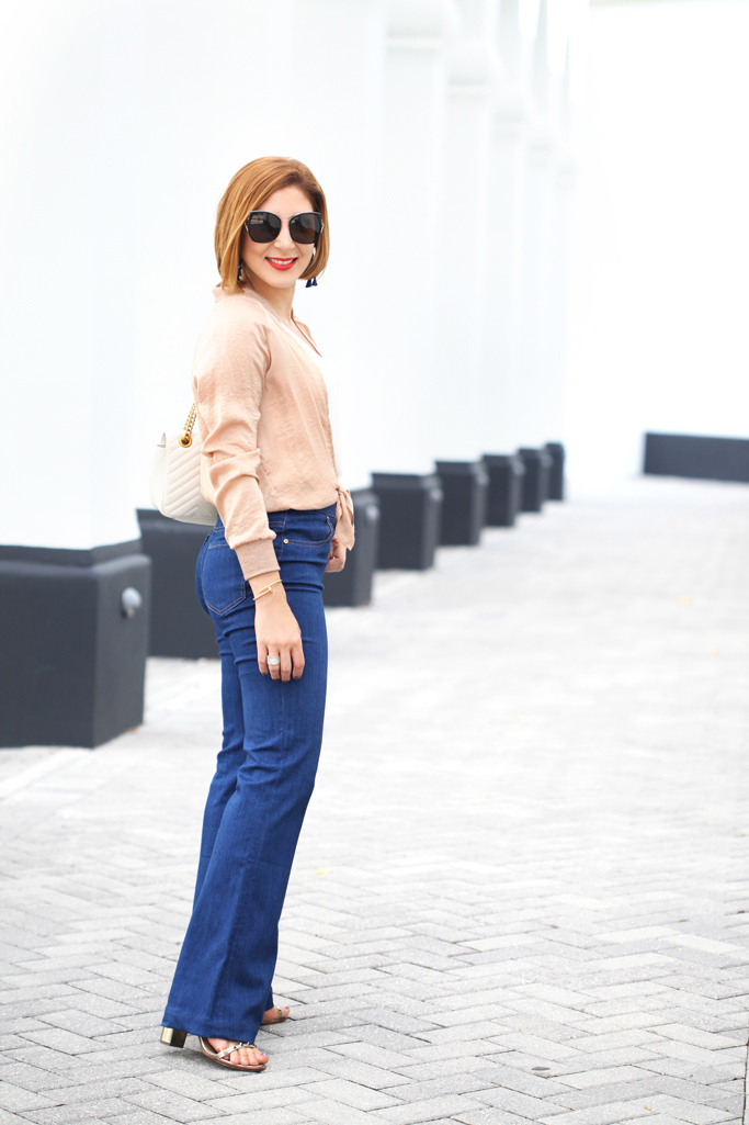 Blame-it-on-Mei-Miami-Fashion-Blogger-2017-Casual-Look-Gold-Metallic-Bomber-Jacket-Gucci-Marmont-Handbag-with-Pom-Pom-Fur-Tassel-Baublebar-Earrings-Short-Hair