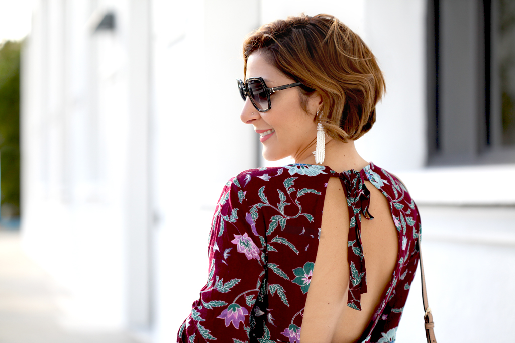 Blame-it-on-Mei-Miami-Fashion-Blogger-2017-Casual-Summer-Look-Spring-Outfit-Open-Back-Floral-Dress-Derek-Lam-Sunglasses-Wooden-Wedges-Gucci-Soho-Crossbody-Taudrey-Bangles-Tassel-Pinata-Earrings