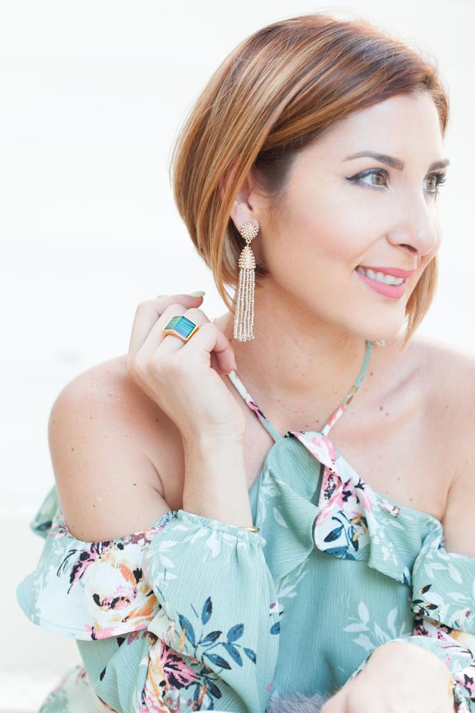 Blame it on Mei, @blameitonmei, Miami Fashion Blogger, 2017, Floral Romper, White Gucci Marmont
