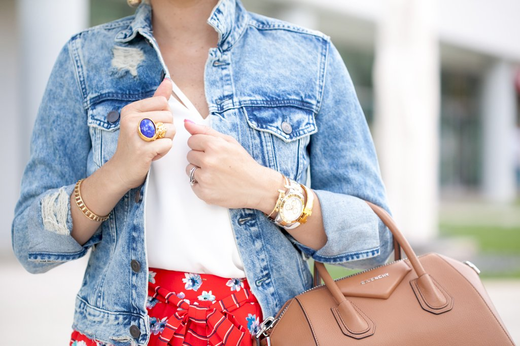 Blame it on Mei, @blameitonmei, Miami Fashion Blogger, Summer Shorts with Distressed Denim Jacket