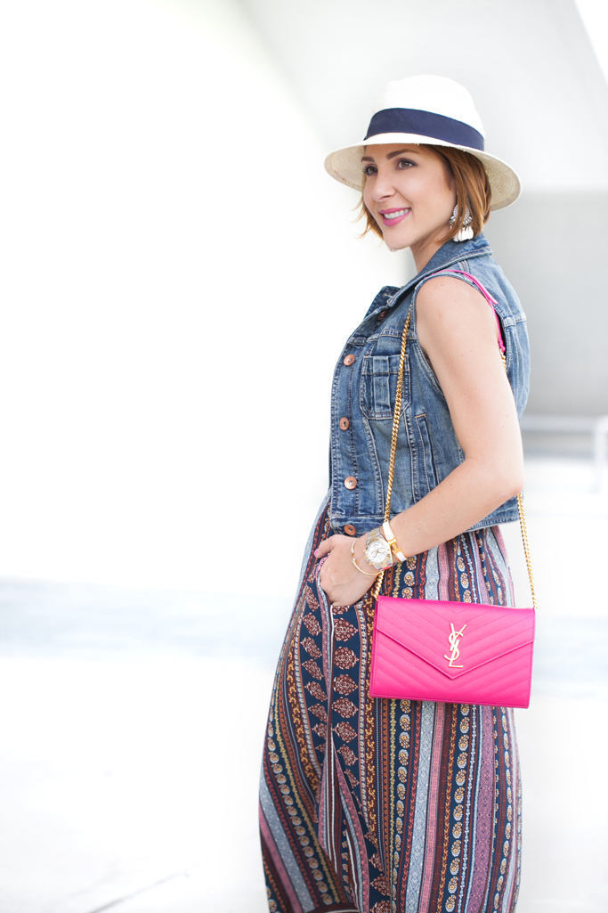 Blame it on Mei, @blameitonmei, Miami Fashion Blogger, Summer Maxi Dress with denim vest