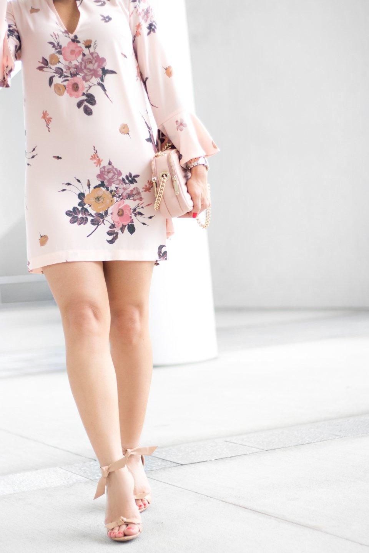 Blame it on Mei, @blameitonmei, Miami Fashion Blogger, Summer Look, Cutout Floral Dress, Ruffle Sleeves