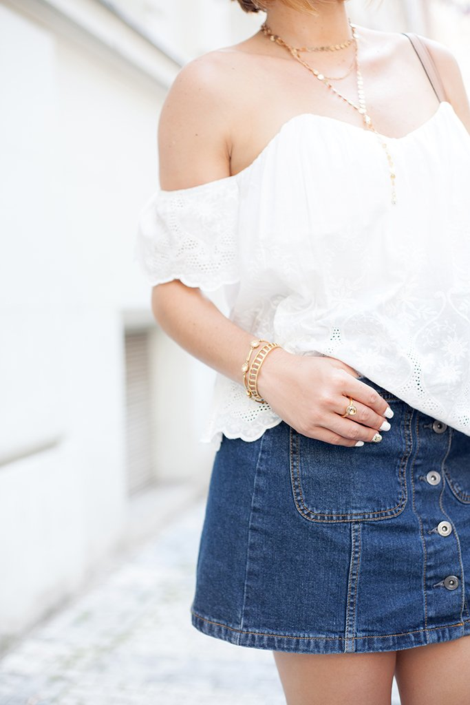 \Blame it on Mei, @blameitonmei, Miami Fashion Blogger, Summer Travel Look, Eyelet Top, Denim Skirt, Prague, Czech Republic