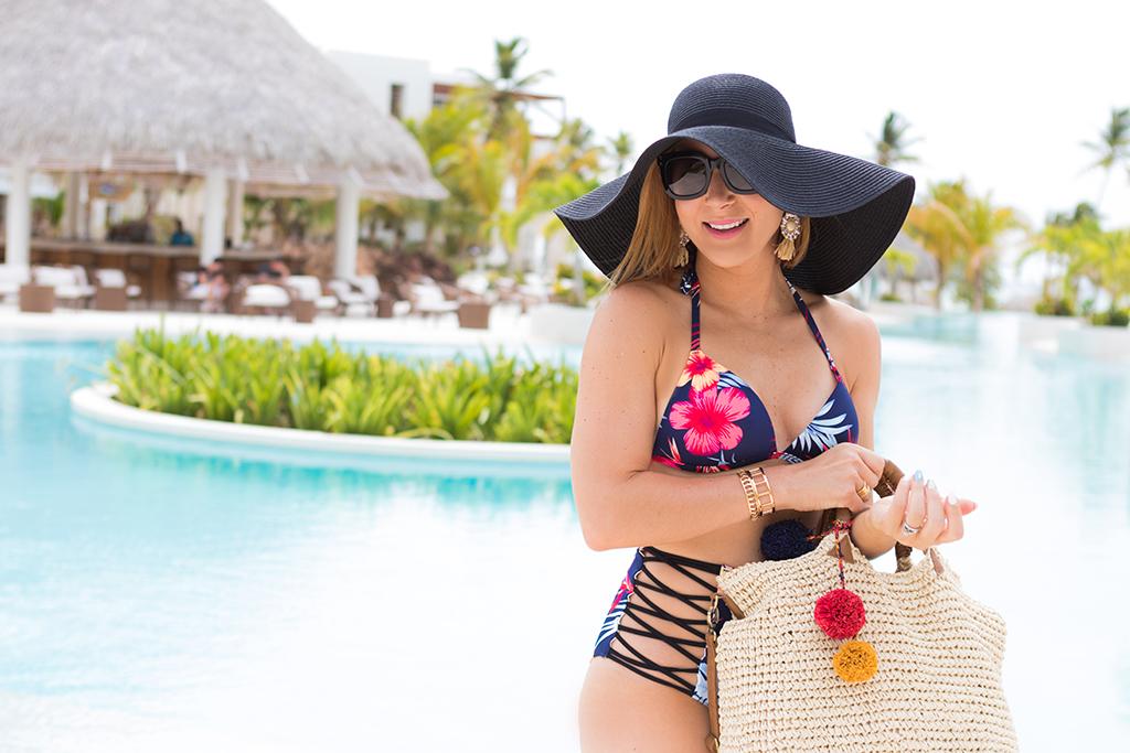 Blame it on Mei, @blameitonmei, Miami Fashion Travel Blogger, High Waist Bikini, Punta Cana All Inclusive Secrets Cap Cana