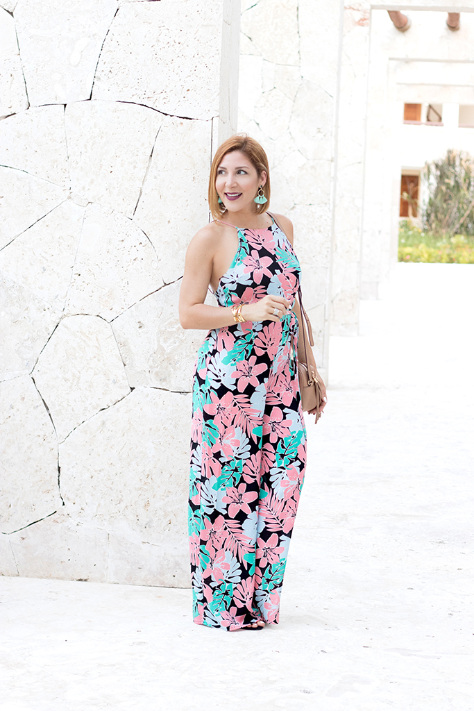 Blame it on Mei, @blameitonmei, Miami Fashion Travel Blogger, Bare Back Floral Jumpsuit