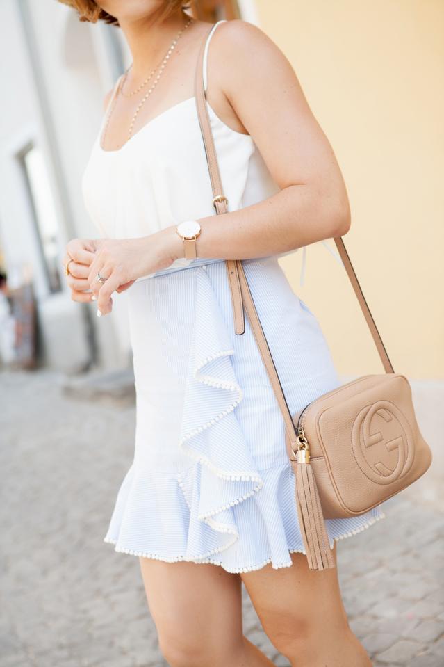 Blame it on Mei, @blameitonmei, Miami Fashion Travel Blogger, Vienna Ruffle Hem Skirt With Pom-Poms