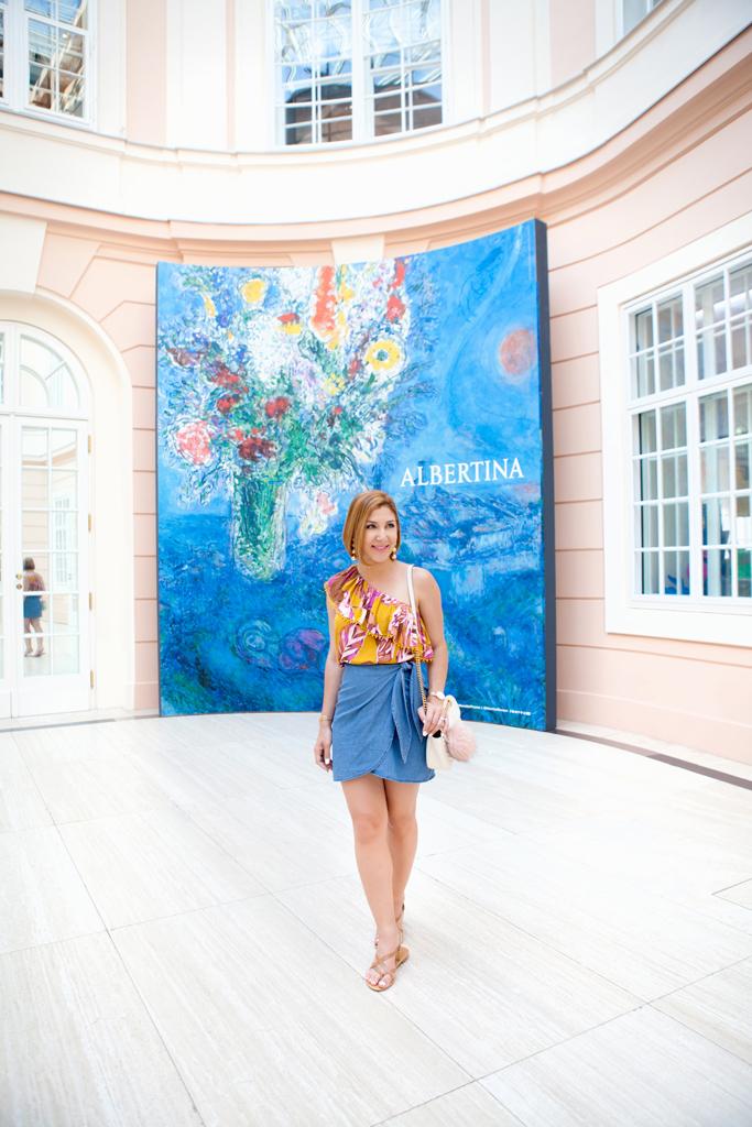 Blame it on Mei, @blameitonmei, Miami Fashion Blogger, Travel Look, Wrap Chambray Skirt