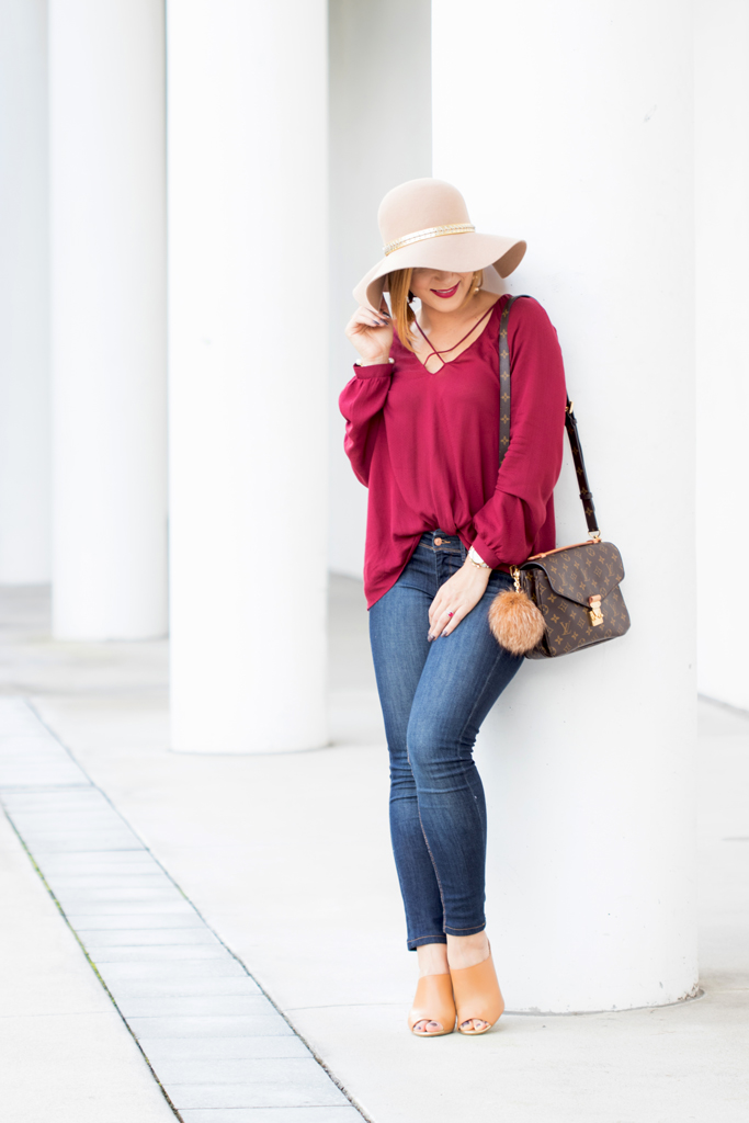 Blame it on Mei, @blameitonmei, Miami Fashion Blogger, Criss Cross Tunic, Fall Autumn Look, Louis Vuitton Pochette Metis