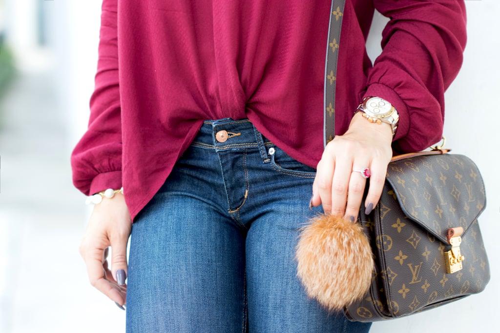 Blame it on Mei, @blameitonmei, Miami Fashion Blogger, Criss Cross Tunic, Fall Autumn Look, Louis Vuitton Pochette Metis