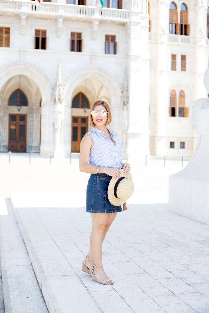 Blame it on Mei, @blameitonmei, Miami Fashion Blogger, Travel Look, Summer Denim Skirt