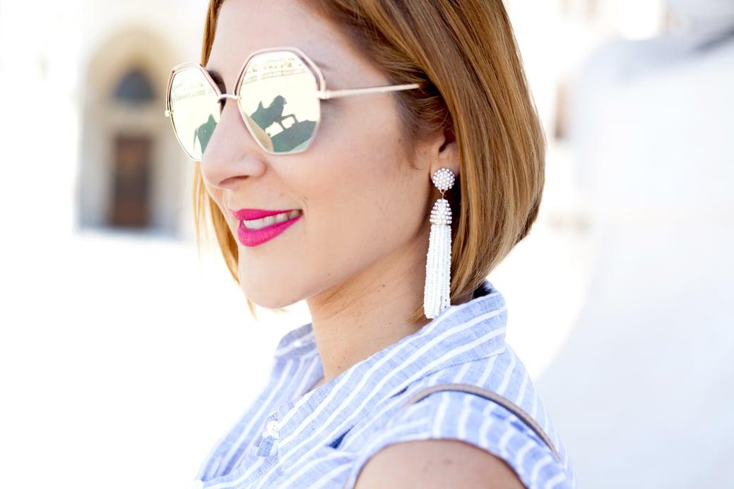 Blame it on Mei, @blameitonmei, Miami Fashion Blogger, Travel Look, Summer Denim Skirt