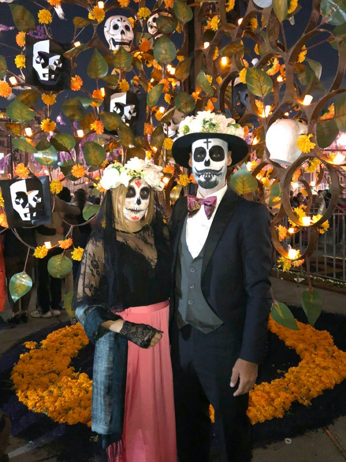 Blame it on Mei, @blameitonmei, Miami Fashion Blogger, Miami Travel, Blogger, Mexico City Dia De Los Muertos, Day of the Dead, Sugarskull Couple, Catrina y Catrin