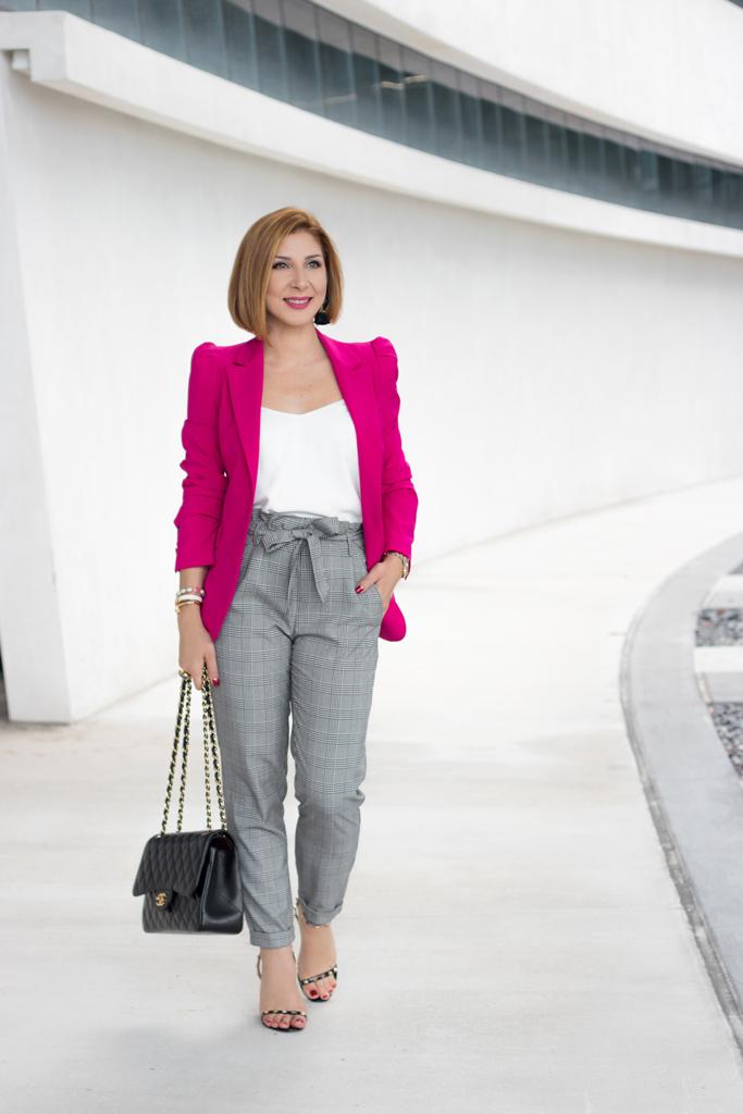 Blame it on Mei, @blameitonmei, Miami Fashion Blogger, How To Wear Checked Pants
