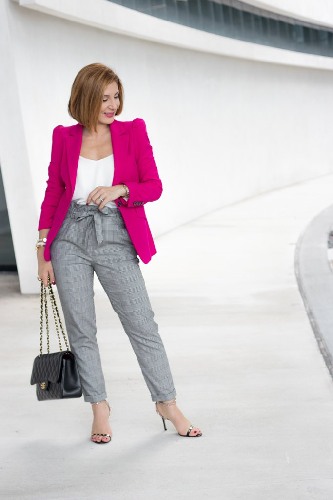 Blame it on Mei, @blameitonmei, Miami Fashion Blogger, How To Wear Checked Pants
