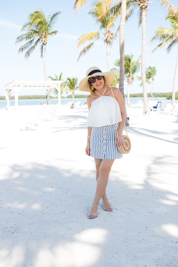 Blame it on Mei, @blameitonmei, Miami Fashion Travel Blogger, Stripe Skirt, Summer Tropical Vacation Style