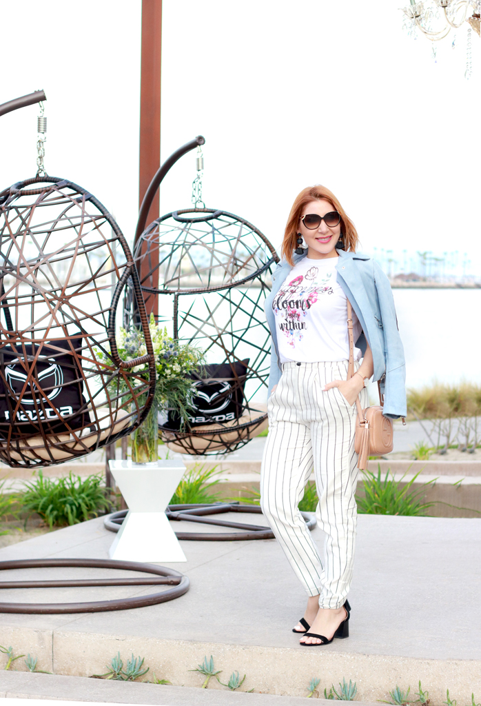 Blame it on Mei, @blameitonmei Miami Fashion Blogger, #WeAllGrow Graphic Tshirt, Moto Jacket