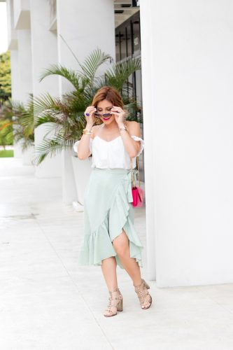 Blame it on Mei, @blameitonmei, Miami Fashion Blogger, ruffle skirt, Veuve Clicquot Carnaval