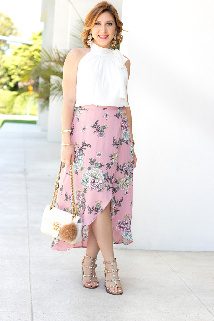 Blame it on Mei, @blameitonmei, Miami Fashion Blogger, floral wrap skirt, maternity outfit