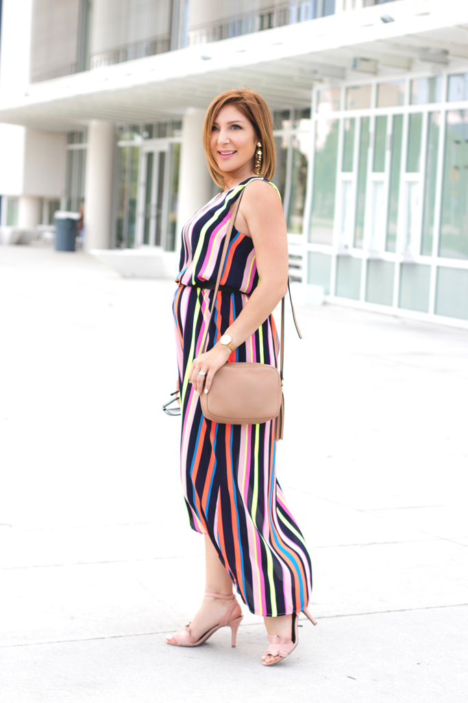Blame it on Mei, @blameitonmei, Miami Fashion Blogger, Stripe Dress, Rent The Runway, #JCPenney, #AllAtJCP