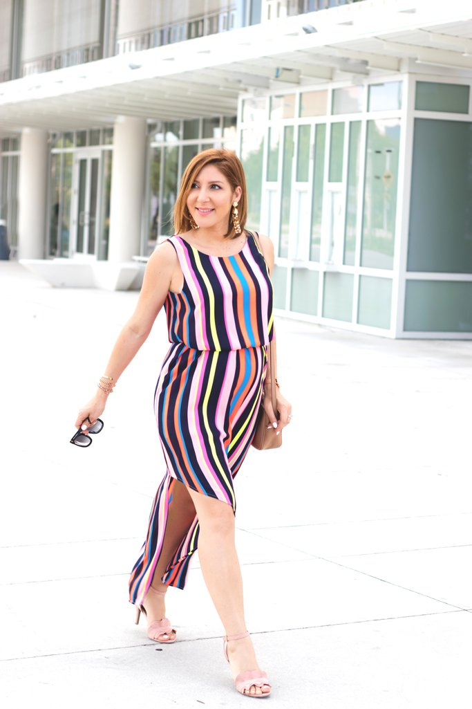 Blame it on Mei, @blameitonmei, Miami Fashion Blogger, Stripe Dress, Rent The Runway, #JCPenney, #AllAtJCP