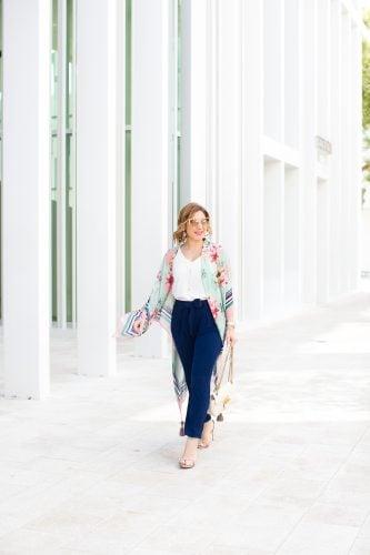 Blame it on Mei, @blameitonmei, Miami Fashion Blogger, how to style wear floral kimono